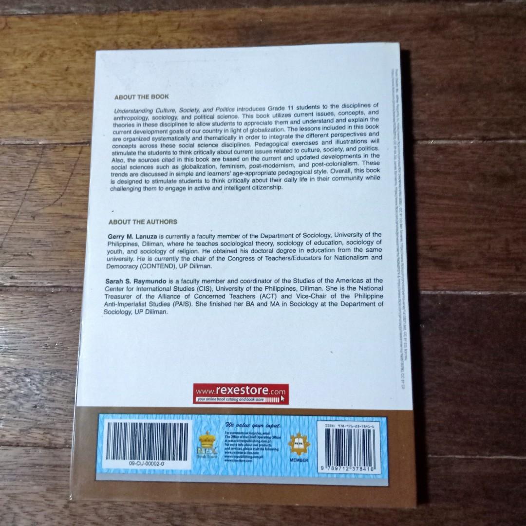 Understanding Culture, Society, and Politics  ( Rex Bookstore )