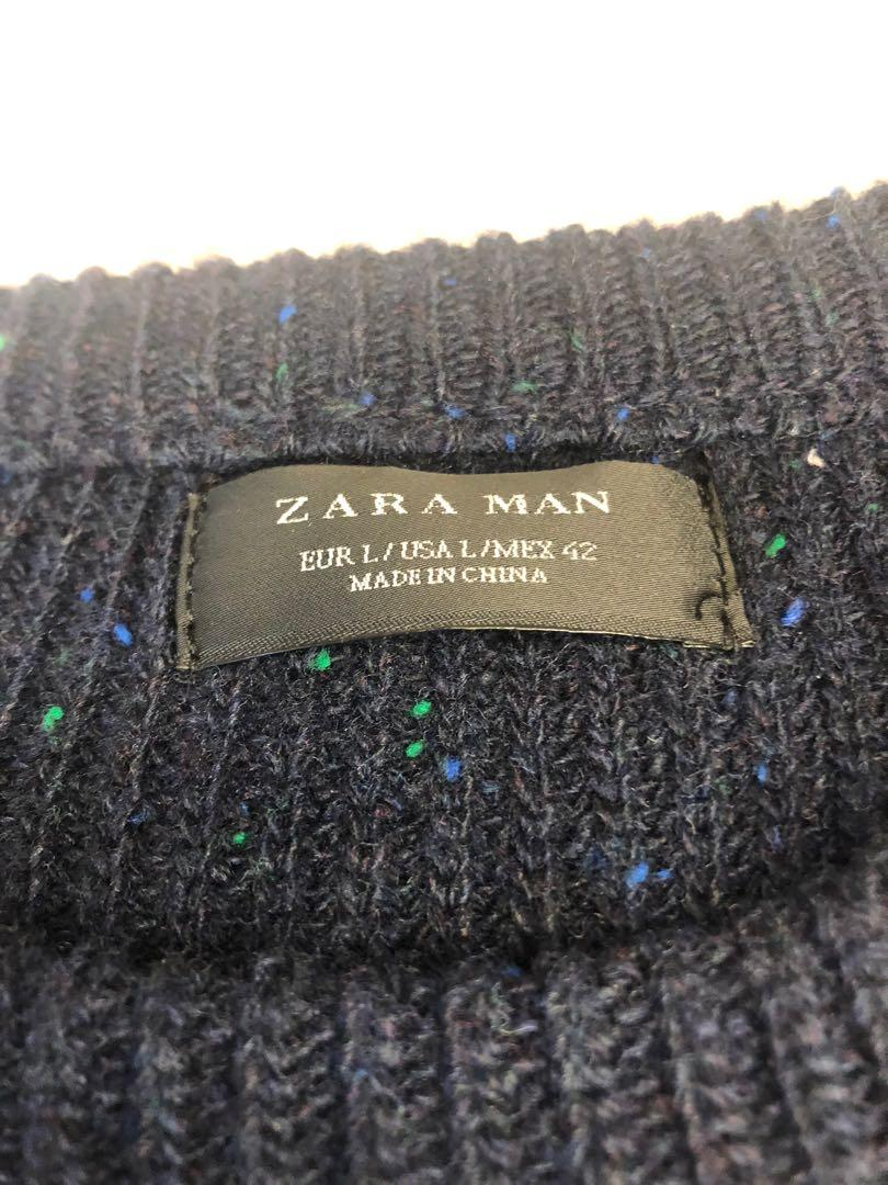 ZARA blue navy coloured specks sweater size Large L