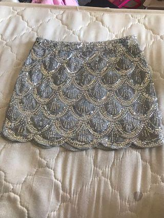 Sparkly Silver Skirt