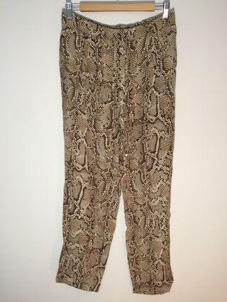 Zara snake print trouser