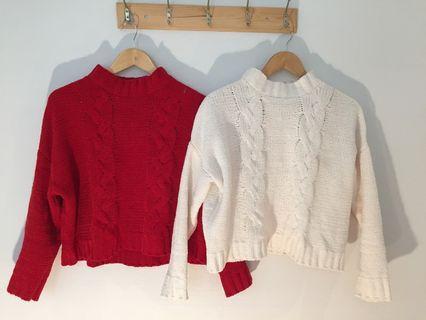 Supre crop knit top