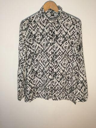 H&M Zebra print shirt