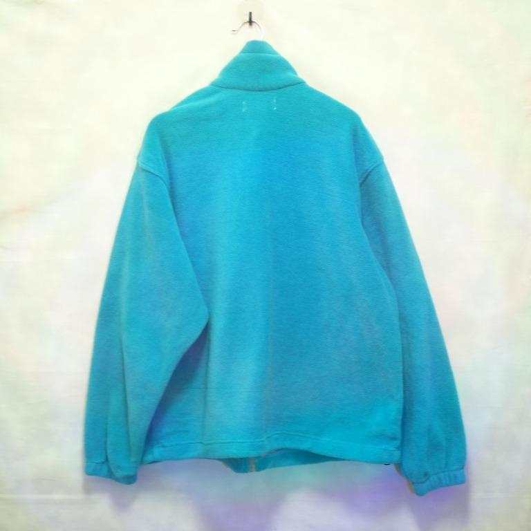 三件7折🎊 Columbia 毛料外套 外套 亮藍色 電繡logo 極稀有 老品 復古 古著 Vintage