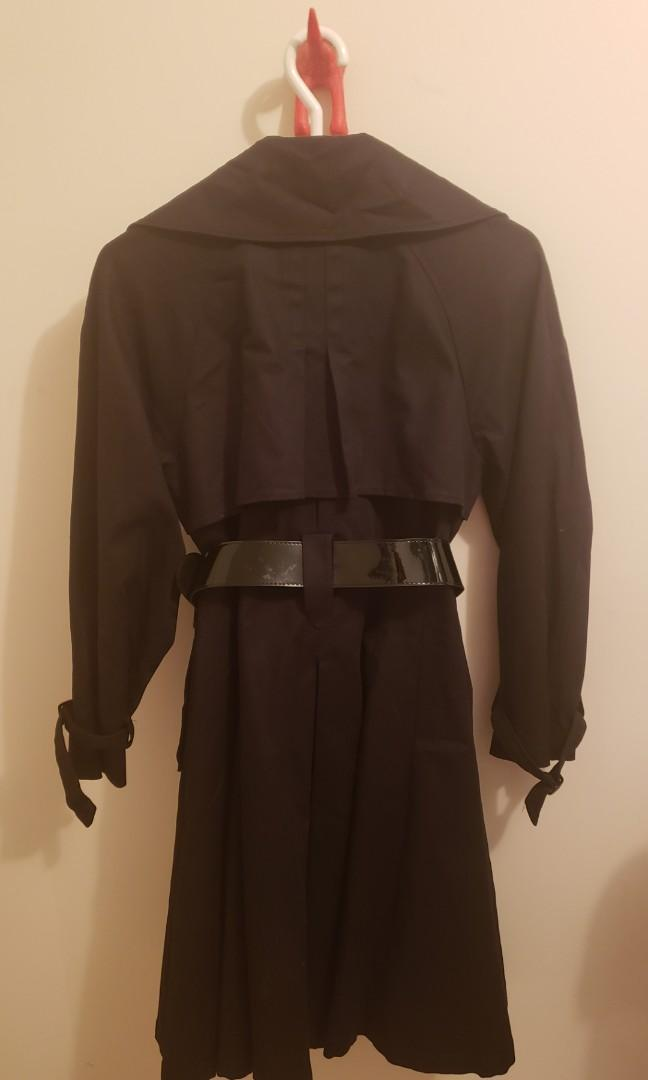 Black Trenchcoat - Size 10 (Vatti by Xavier Paris Studio)