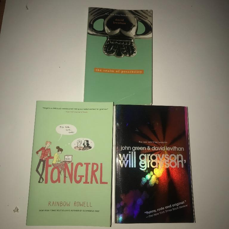 Books for sale set 1 (assassins creed, david leviathan, rainbow rowell, etc)