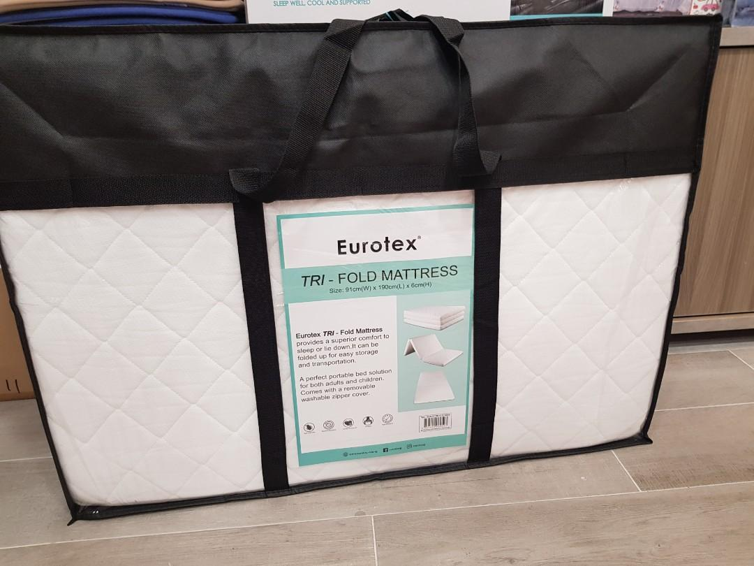 Picture of: Eurotex Tri Fold Mattress Furniture Beds Mattresses On Carousell