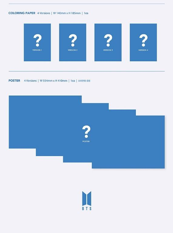 [INCOMING STOCK] BTS - MAP OF THE SOUL: 7 ALBUM LOOSE SET