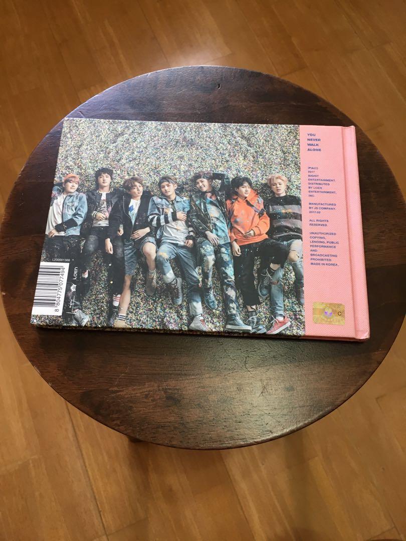 KPOP ALBUM BTS YOU NEVER WALK ALONE OFFICIAL ALBUM (RIGHT, PINK VERSION)
