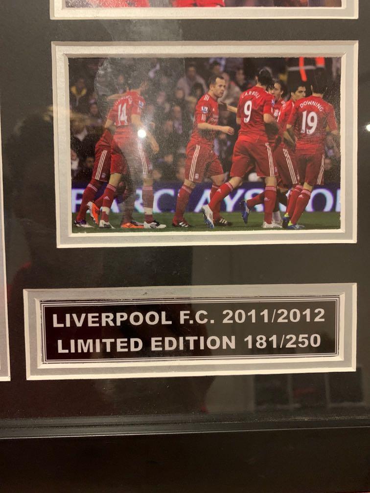 Liverpool Football Club 2011/12 framed merchandise