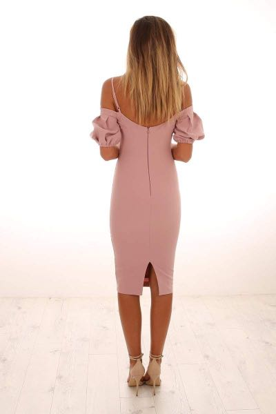 Love Nookie Belle Midi Dress Dusty Pink size XS (AU 6-8)