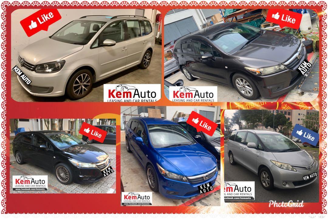 MPV For CNY 2020 rental (Honda stream Toyota Previa Estima VW Touran)