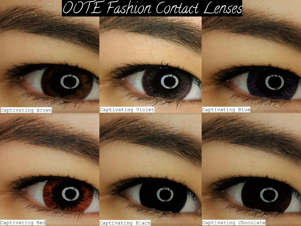 OOTE Fashion Soft Hydrophilic Contact Lenses (1 year) - (Grade: 0.00 to -6.00)