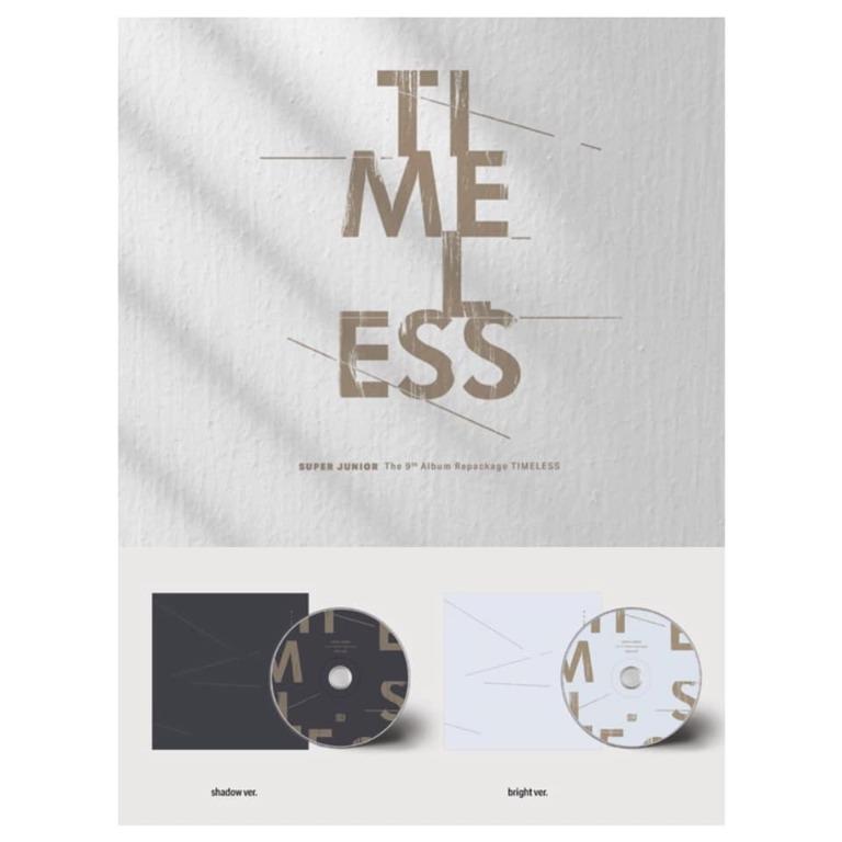 [Pre-order] SUPER JUNIOR 슈퍼주니어 (9TH ALBUM REPACKAGE  9집 리패키지) - TIMELESS  (SHADOW ver.    BRIGHT ver.)