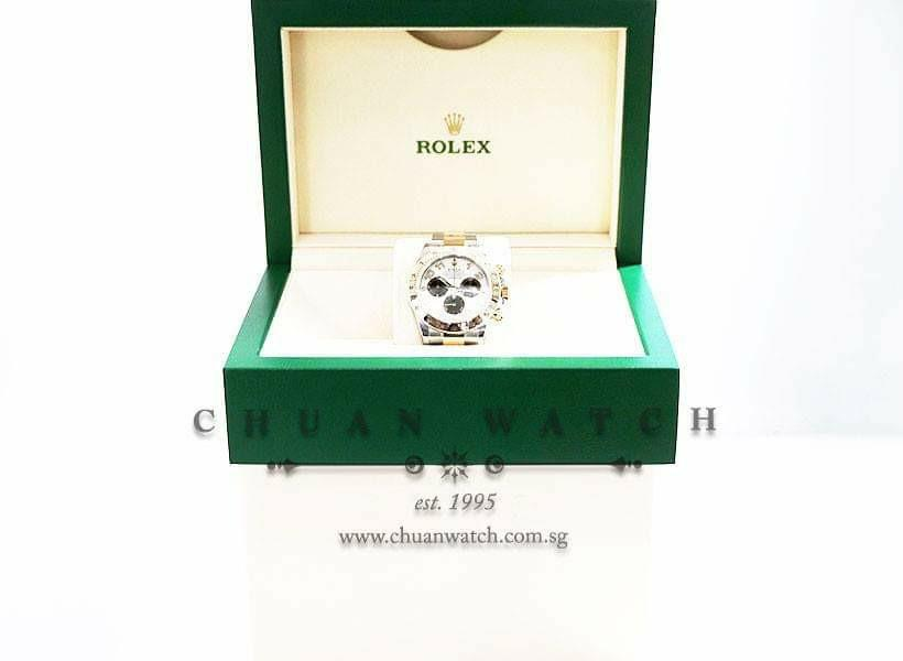 *ON HOLD Pre-Owned Rolex Cosmograph Daytona Two-Tone 116523 'Panda' - Discontinued Reference and Dial