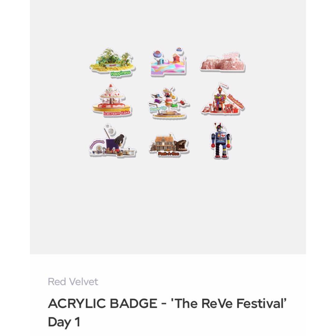 [ PRE-ORDER] RED VELVET 'The Reve Festival' Merch - Day 1