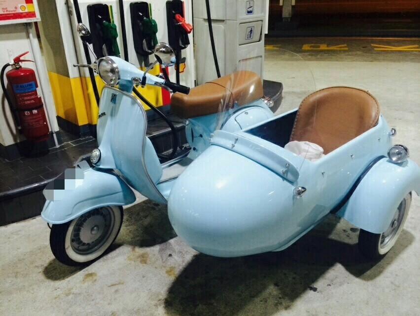Three-wheel Vespa Sidecar