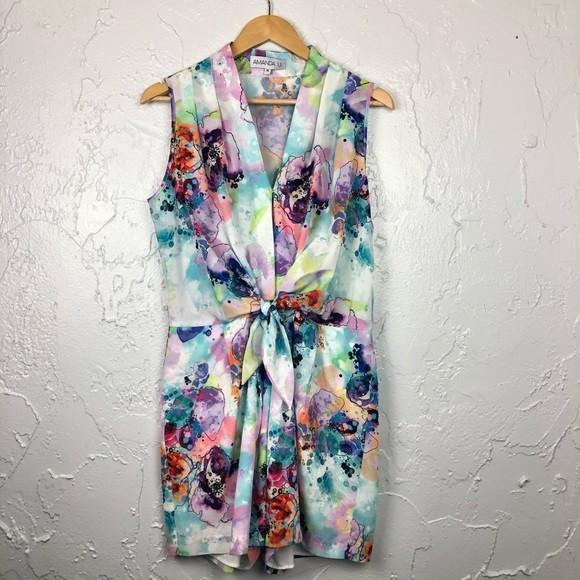 Watercolour Romper - Size Small (Amanda Uprichard)