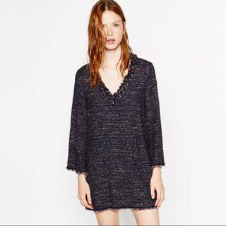 Zara tweed tunic dress