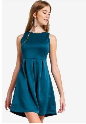 ZALORA - SCUBA FIT & FLARE DRESS