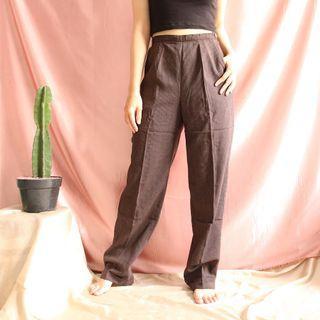 V25-Stripes Brown HW Pants