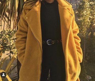 Yellow aviator jacket