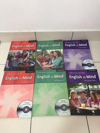 """""""English in Mind"""" student's book 1,2,3 and workbook 1,2,3"""