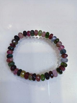 Genuine tourmaline bracelet