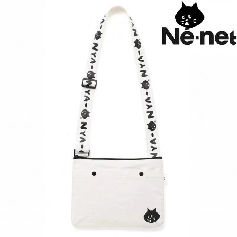 日本雜誌 nya ne net 驚訝貓輕便斜挎包可愛貓咪 帆布袋