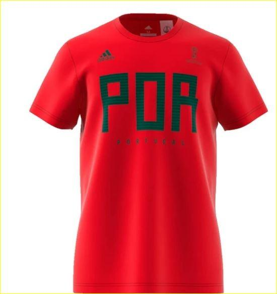 Adidas Men's Portugal World Cup Soccer T Shirt (Size XXL)