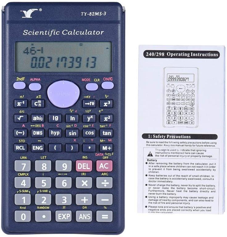 Aibecy Scientific Calculator Counter 240 Functions 2 Line LCD Display Business Office Middle High School Student SAT//AP Test Calculate