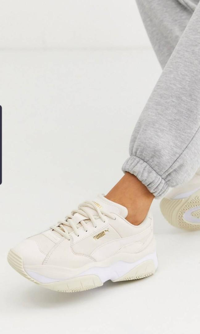 BRAND NEW] Puma Storm.y Trainers in Beige, Women's Fashion ...