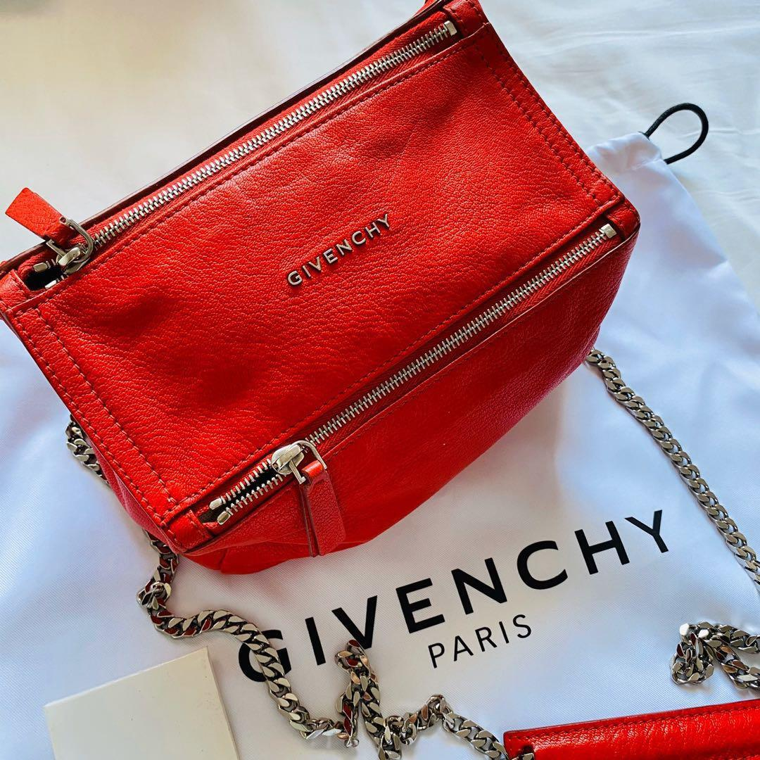Givenchy mini micro pandora red should bag 100% authentic!