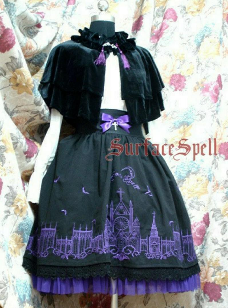 RENT/SALE Gothic Moonlight Cathedral Embroidery Lolita Skirt