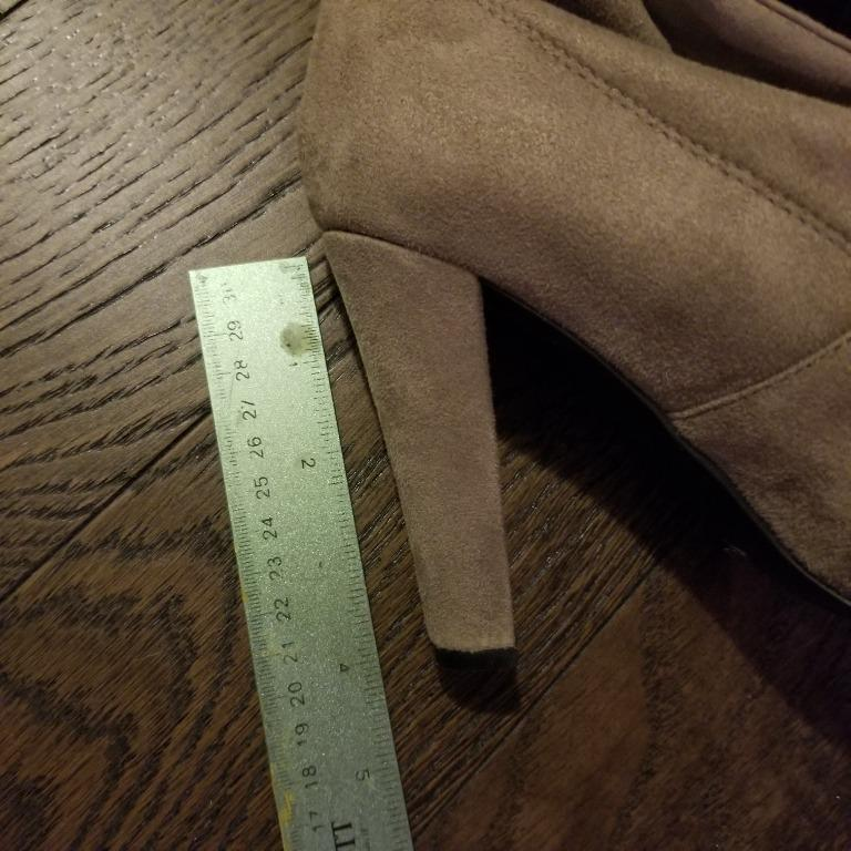 Steve Madden NEW nude suede tied thigh high boots with heels (Size 8-9)