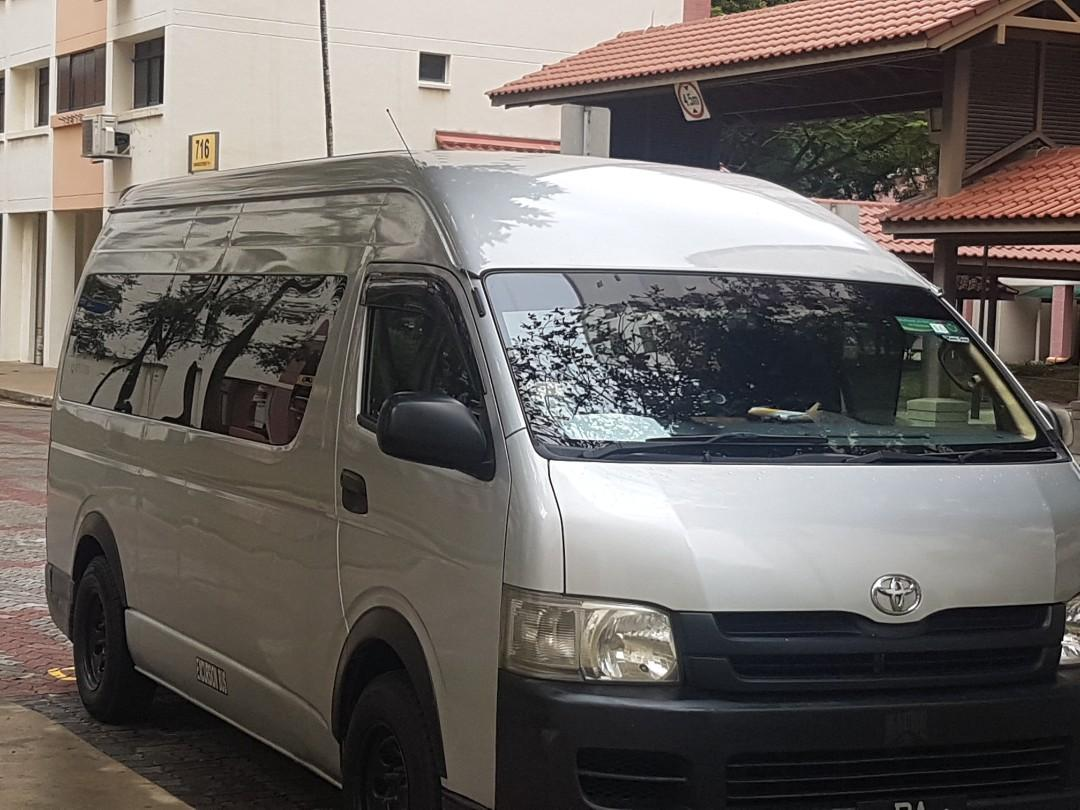 14 seater Hiace Transportation for Booking. Pls whats app.
