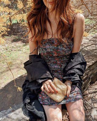 Mendocino Floral Ruched Dress