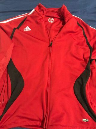 Adidas Red Zip-up Sweater