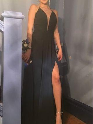 Gradient blue prom dress XS