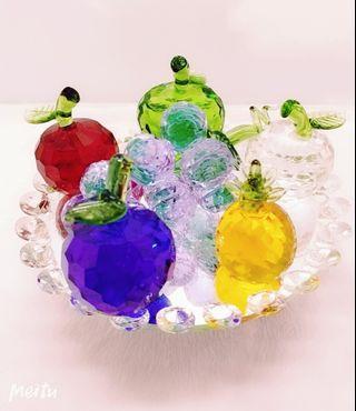 水晶水果盤