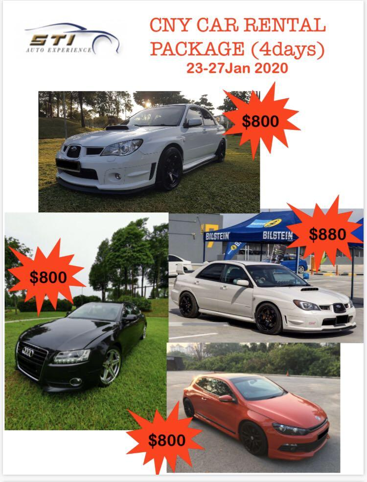 🔥 CNY Mod Cars for Rent