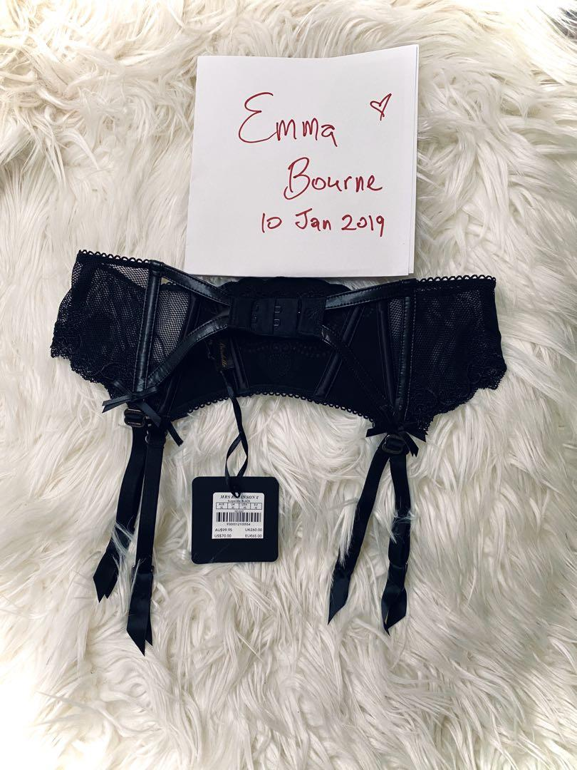 🖤 Honey Birdette Mrs Robinson 2 Black Suspender Size XS BNWT 🖤 SUSPENDER ONLY