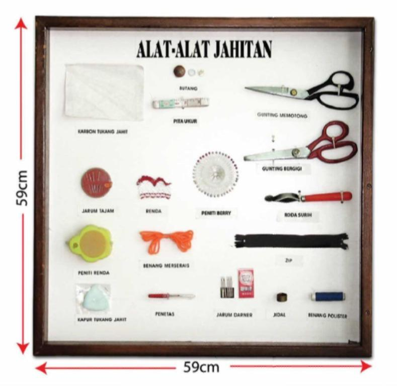 A Model Set Alat Alat Jahitan Bm Tanpa Cermin Design Craft Others On Carousell