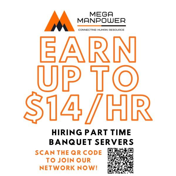 Banquet Part-time [UP TO $14/HR]