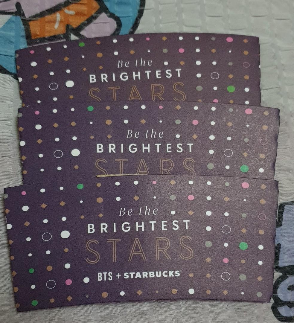 BTS X STARBUCKS Be the brightest starts cupsleeves