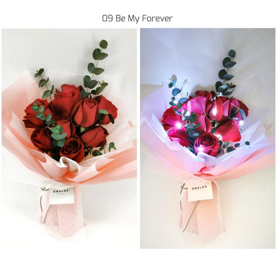 Dmalda Flower Bouquet Red Roses Bouquet Flowers Fresh Flowers Bouquet Gardening Flowers Bouquets On Carousell