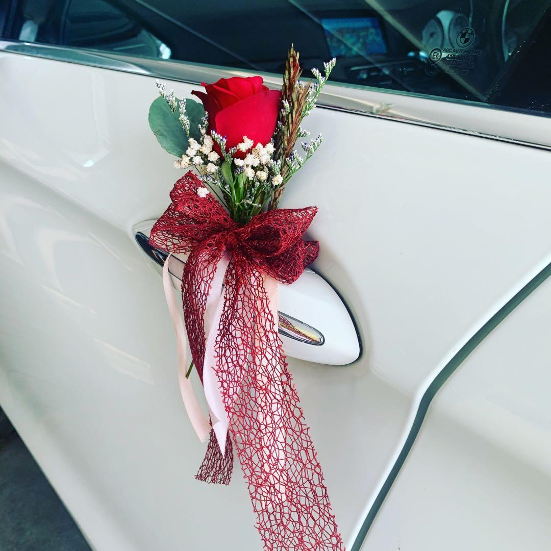 FRESH Flower Decor BMW 523i F10 Highline Series (Latest Version) White Color Wedding Limo