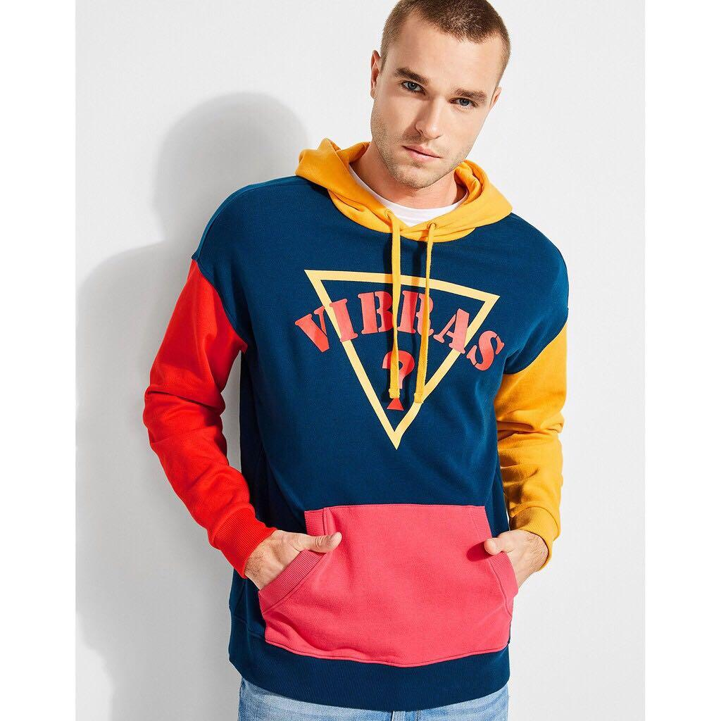 Guess X J Balvin Vibras limited edition unisex color block hoodie sweater