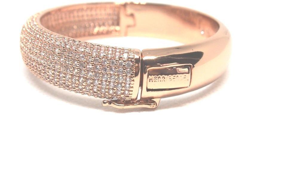 Henri Bendel Sparkling oval Crystals bangle bracelet - Rose Gold Rare Elegant