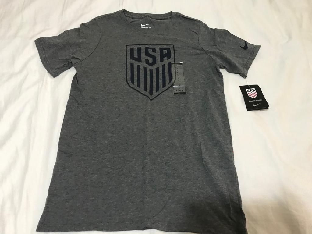 Nike Team USA Crest Youth Charcoal Heather Grey T-Shirt - Youth Large