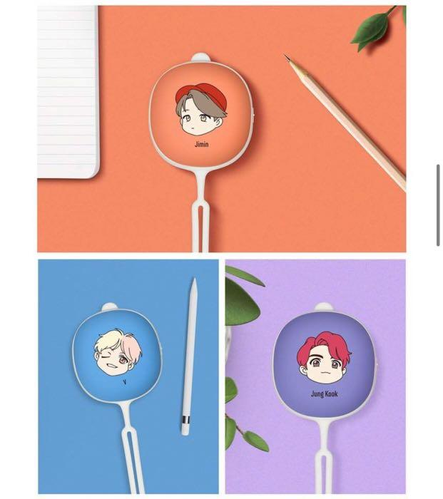 OFFICIAL BTS CHARACTER 3in1 ( HAND WARMERS PORTABLE POWER BANK )